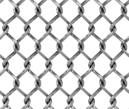 penal system: Seamless chainlink fence