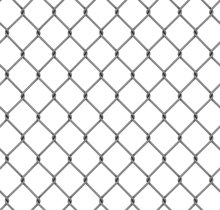 wire mesh: seamless fence isolated