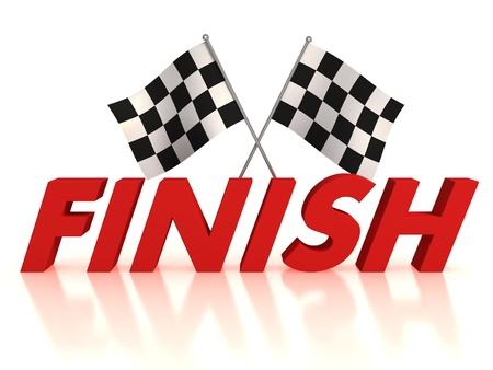 the end: finish flags