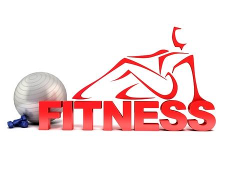 woman fitness: 3d concept de remise en forme Banque d'images