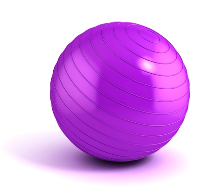 fitness ball isolated on white  photo
