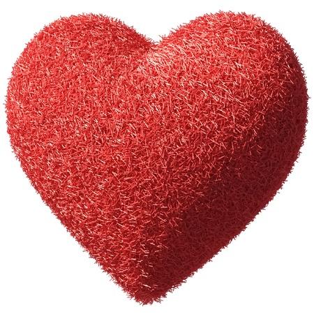 true love: fluffy furry heart  Stock Photo