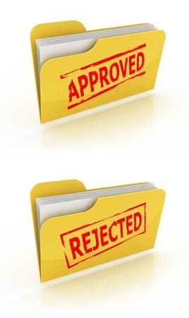 folder icon voor goedgekeurde / afgewezen documenten