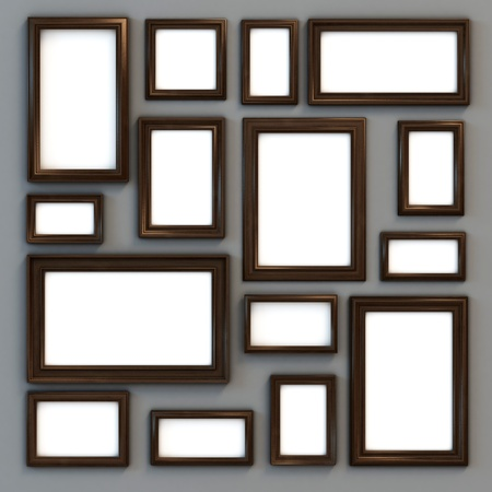 set of various frames for photographs or paintings  photo