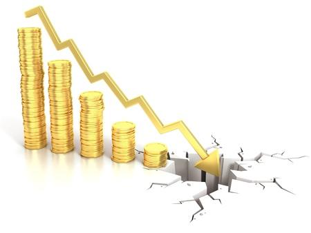 financial crisis 3d concept photo