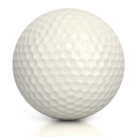 golf tee: golf ball isolated over white background