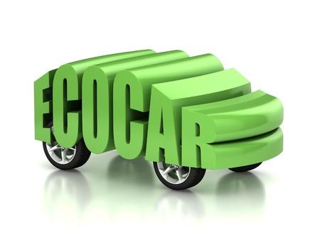 eco car 3d concept Stock Photo - 12330914