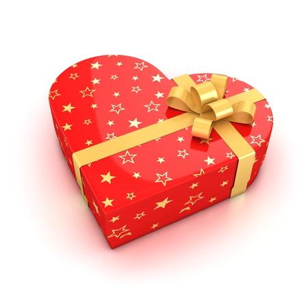gift box over white background 3d illustration  illustration