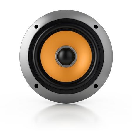 stereo: haut-parleur isol� sur blanc Banque d'images