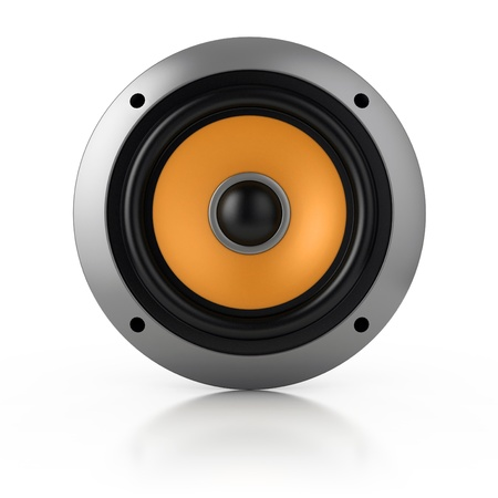 loud speaker isolated over white Stock Photo - 12330997