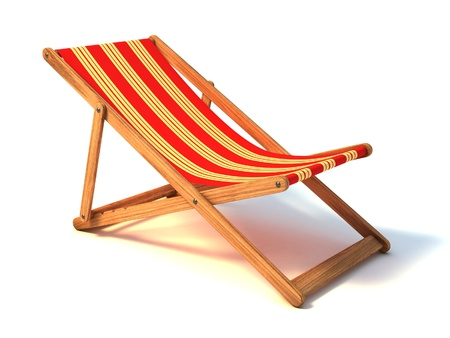 parasols: beach chair 3d illustration Stock Photo