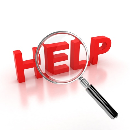 help button: search for help icon Stock Photo