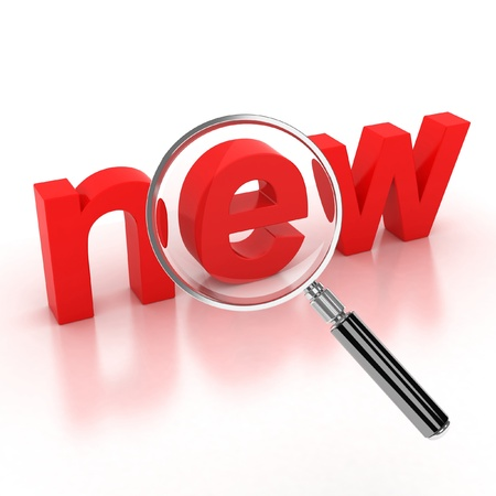 magnifier: search new items icon  Stock Photo
