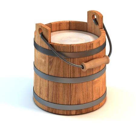 pail: milk bucket  Stock Photo