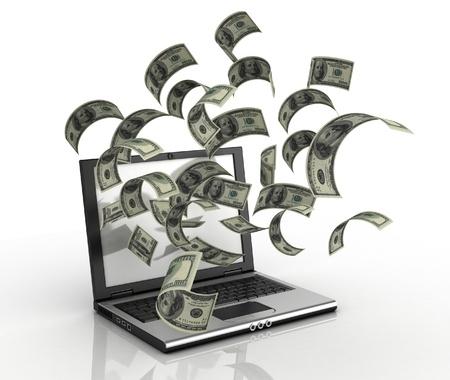 ganancias: ganar dinero por el concepto 3D a Internet - de dólares quedando sin equipo