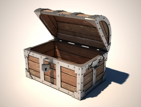 old container: empty treasure chest