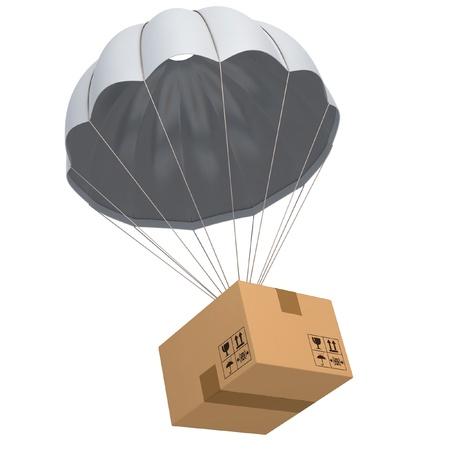 fallschirm: Versand 3D-Konzept