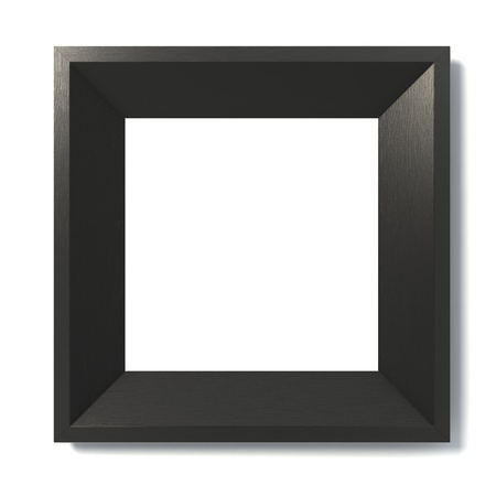 wood carving 3d: black picture frame