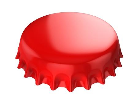 red bottle cap 3d illustration  illustration