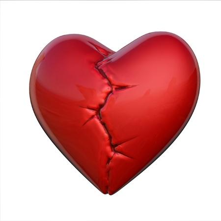 scar: broken heart  Stock Photo