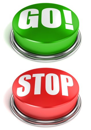 go stop buttons Stock Photo - 12331262