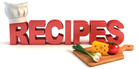 recipes 3d concept  Stock Photo - 12331126