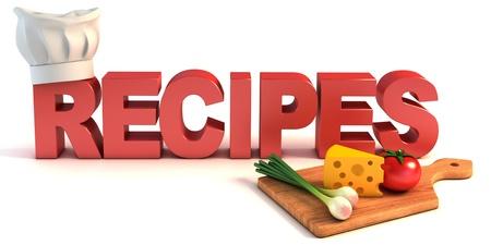 recipes 3d concept  photo