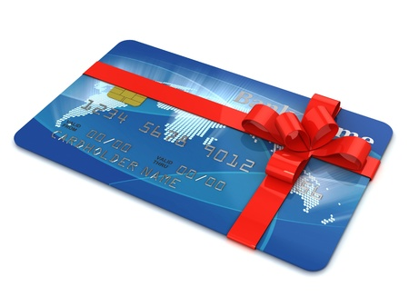 credit card as present  photo
