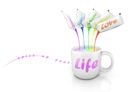 cup of life 3d concept  photo
