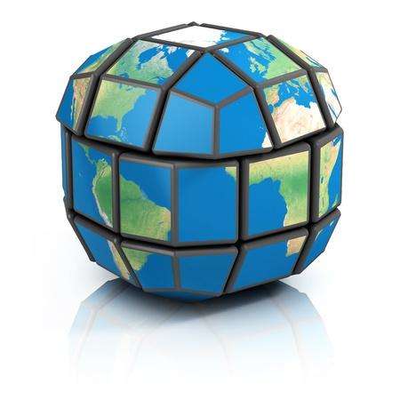 globalization: global politics, globalization, 3d concept