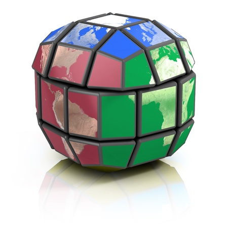globalisation: global politics, globalization 3d concept  Stock Photo