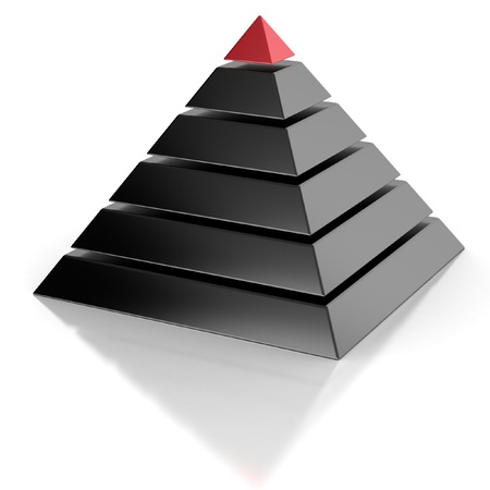 achievement concept: pyramid, hierarchy abstract 3d concept