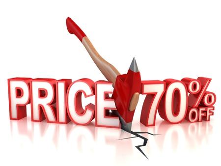 70 percent discount 3d concept photo