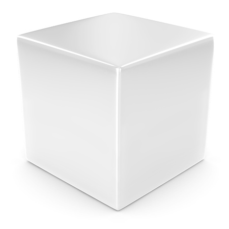 specular: white 3d cube isolated over white