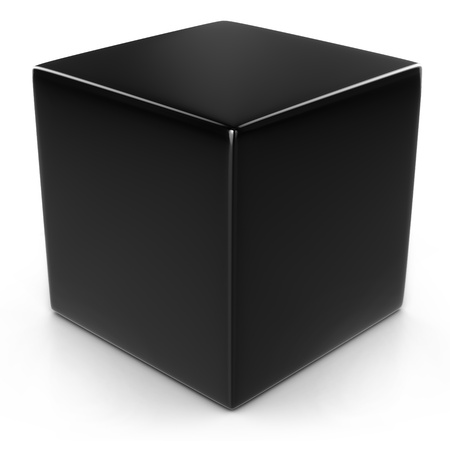 black cube isolated over white  photo