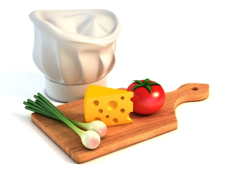 vegetable cook: cooking 3d concept