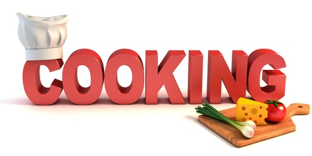 cookbook: cooking 3d concept