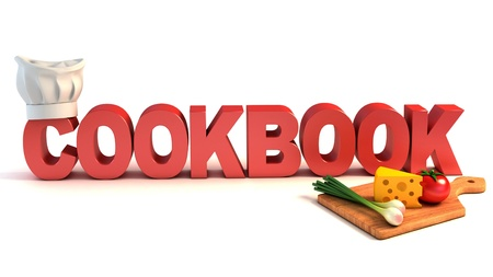 cartoon chef: cookbook 3d concept
