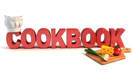 cookbook 3d concept  photo