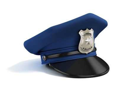 cop: police hat 3d illustration