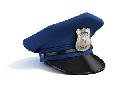 gorra policía: sombrero de la policía 3d ilustración