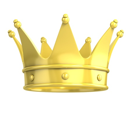 corona rey: corona de oro
