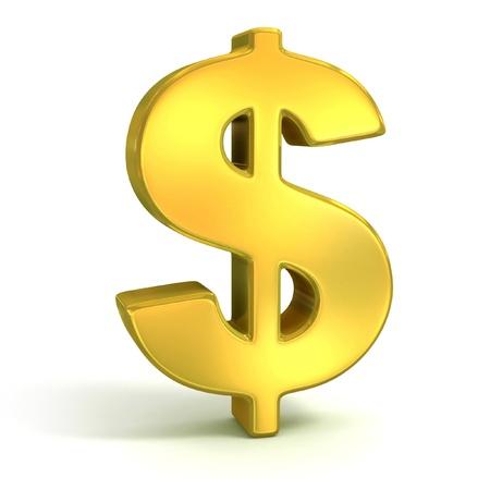 signo pesos: s�mbolo del d�lar de oro aislado en blanco - 3d icono de moneda Foto de archivo