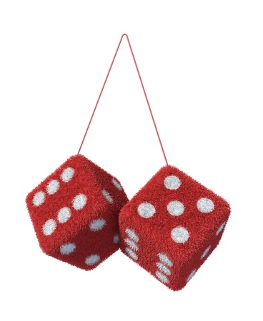 red dice: Fluffy Furry Dices