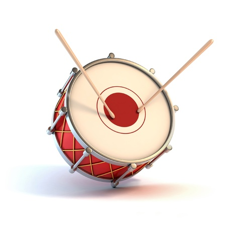juguetes antiguos: bombo instrumento - 3d concepto de anuncio de Foto de archivo
