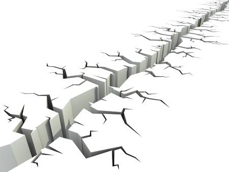 earthquake crack: ground crack