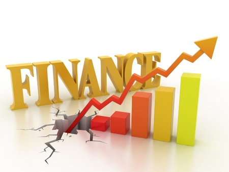 sales trend: Business financial growth concept  Stock Photo