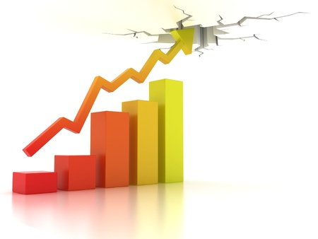 company growth: Business financial growth abstract 3d illustration