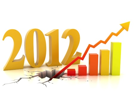 business or financial growth in 2012 3d concept  photo