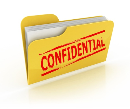 confidential folder icon over the white background  photo